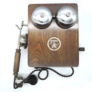 Seltenes Deckert und Homolka Wien L.M. Ericsson Telefon Wandtelefon mit Kurbel