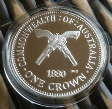 One Crown Ned Kelly Commonwealth Of Australia Coin Finished In Silver 1oz .999