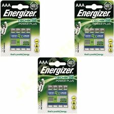 12 x ENERGIZER AAA 700 mAH POWER PLUS Rechargeable Batteries ACCU 700