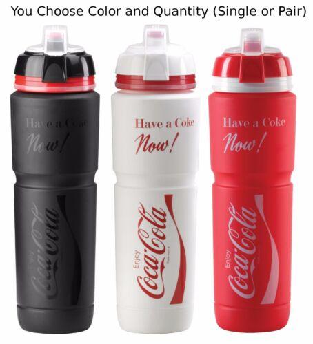 Elite Coca-Cola Maxicorsa 1000ml Water Bottle Black Red White w// Dirt Cover Coke