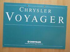Chrysler Voyager Prospekt, brochure, cataloque, 4/88
