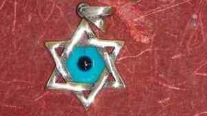 COLGANTE-ESTRELLA-DAVID-en-plata-con-OJO-TURCO-amuleto-protector-envidia-mal-ojo