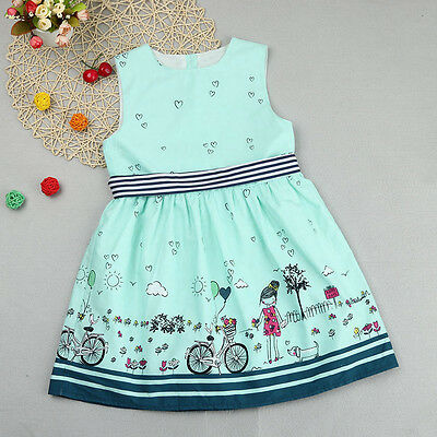 Cute Toddler Kids Baby Girls Sleeveless Princess Sundress Pageant Party Dresses