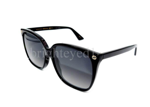 37643d62fdde Gucci Sensual Romantic GG 0022s Sunglasses 007 Black 100 Authentic ...