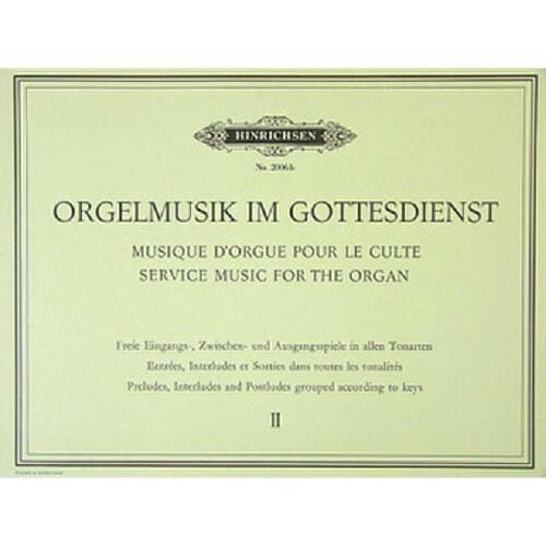 Noten für Orgel 9790206203336 Orgelmusik im Gottesdienst Band 2