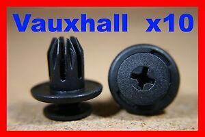 10-Vauxhall-GM-front-rear-bumper-fender-plastic-screw-fastener-retainer-clips