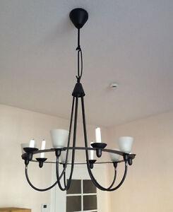 ikea kronleuchter lerdal metall 5 flammig kerzen und elektrisch schwarz top ebay. Black Bedroom Furniture Sets. Home Design Ideas