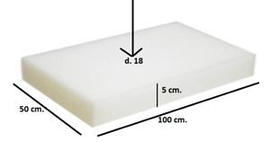Spugna-Gommapiuma-100x50x5-densita-18-poliuretano-Espanso-tappezzeria-imbottiti