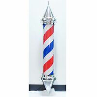 Wide Spire 51 Barber Shop Pole Sign Rotating Light Hair Salon Red White Blue on Sale