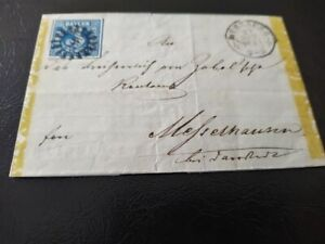 Bayern-Kreuzer-Brief-3-Kr-blau-2II3-gMR-034-396-034-Wuerzburg
