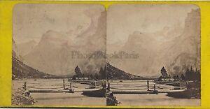 Suisse Gasterntal Bern Stereo Vintage Albumina Ca 1860