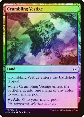 Crumbling Vestige FOIL Oath of the Gatewatch NM-M Land Common MTG CARD ABUGames