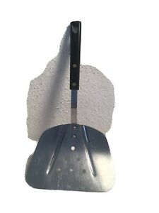 Vintage-Royal-Sharpcutter-Slotted-Wide-Blade-Spatula-11-1-2-Long-Black-Handle