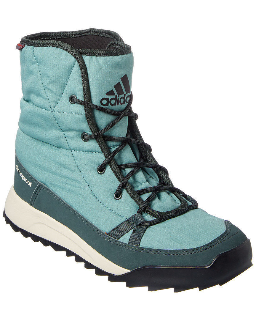 NEW Adidas CHOLEAH PADDED BOOTS Vapour Steel Green CLIMAPROOF Womens AQ2598