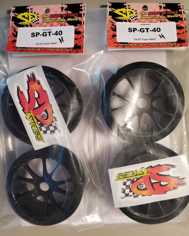Sp Foam Tires Gt 40 Shore Full Set (4) RC DRAG RACING 17MM HEX Wheels & Foams
