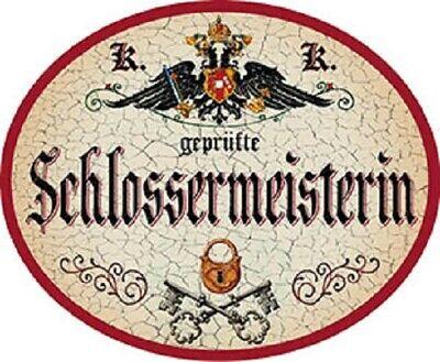 Schlossermeister Nostalgieschild