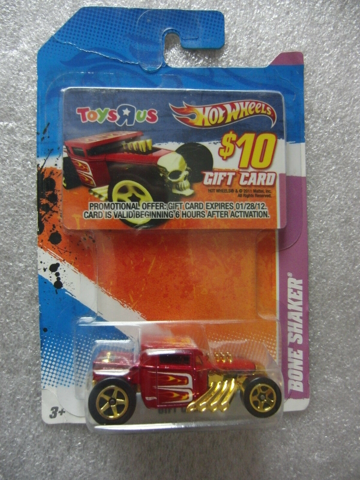 Hot Wheels 2011 - BONE SHAKER - Toy R Us Gift Card - HTF - Non-Mint Card