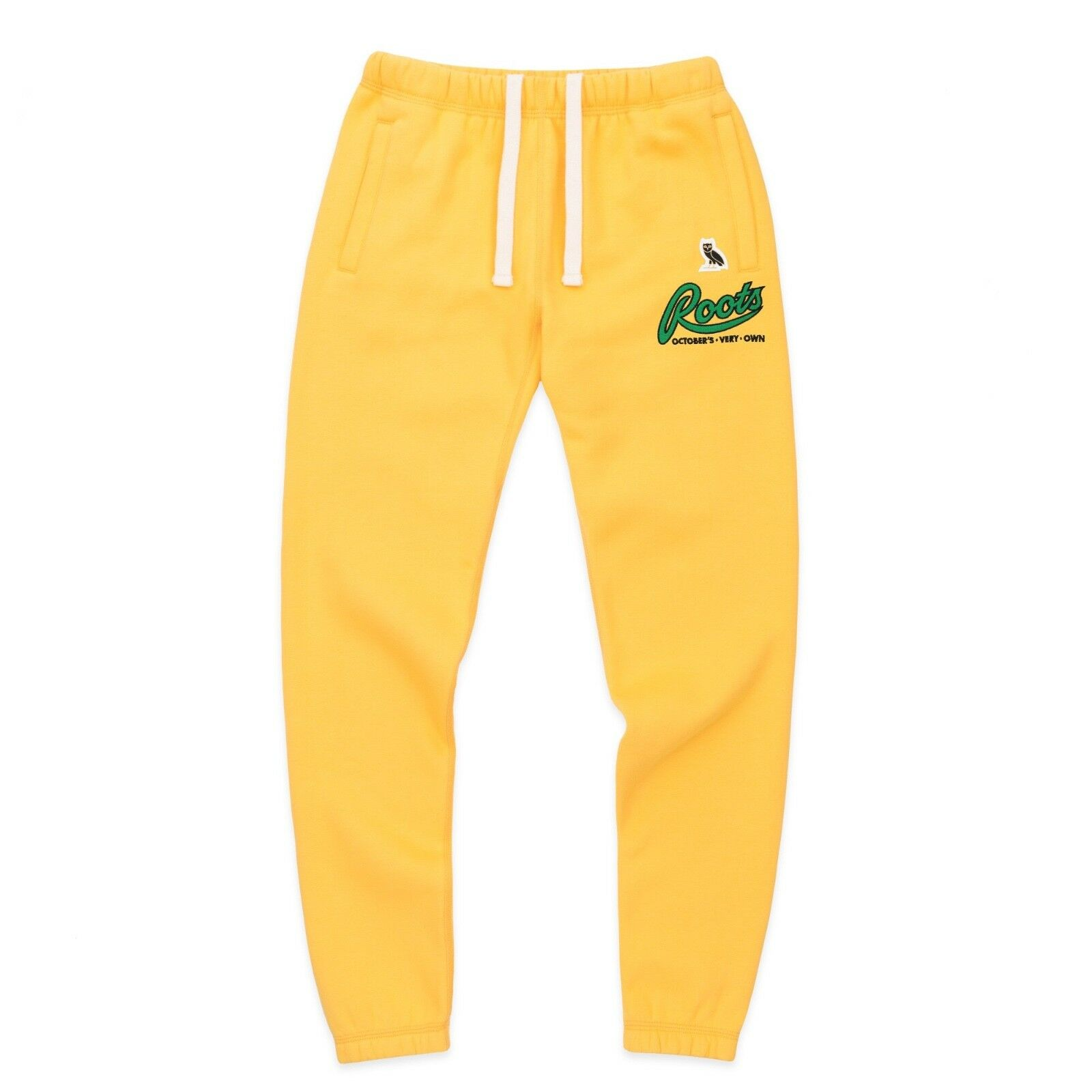 NEW October's Very Own OVO X ROOTS Fall'17 Womens Sweatpants Mustard LARGE Drake