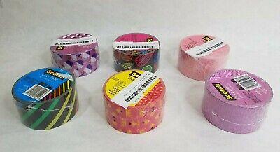 "2 Rolls Scotch 3M Sweet Treat Birthday Cupcakes 1.88/"" x 10yd Crafting Duct Tape"