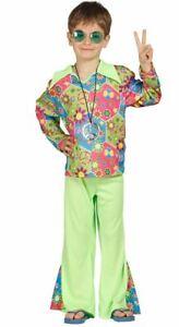 Dettagli su Ragazzi 60s 70s Groovy Retrò Hippy Hippie Costume Vestito per bambini mostra il titolo originale