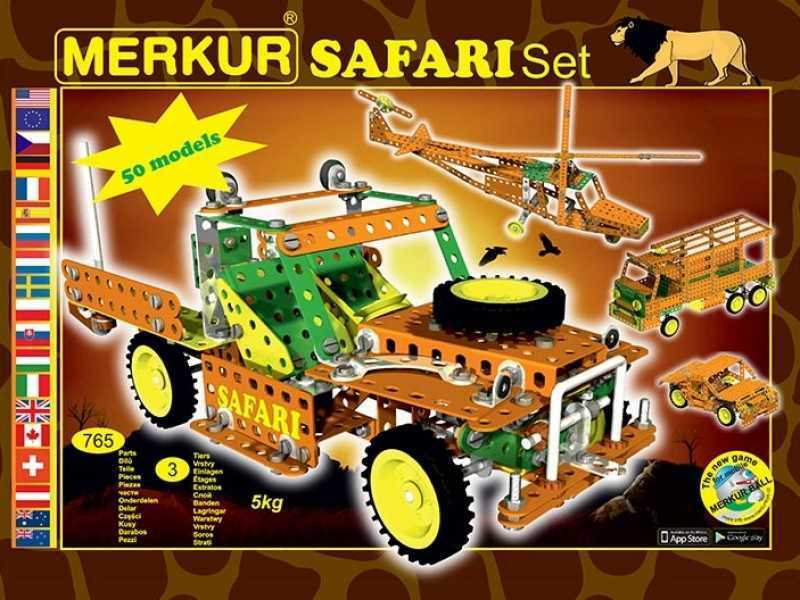 Metal construction set Merkur Safari, 3,5 kg, NEW, made in CZECH REPUBLIC