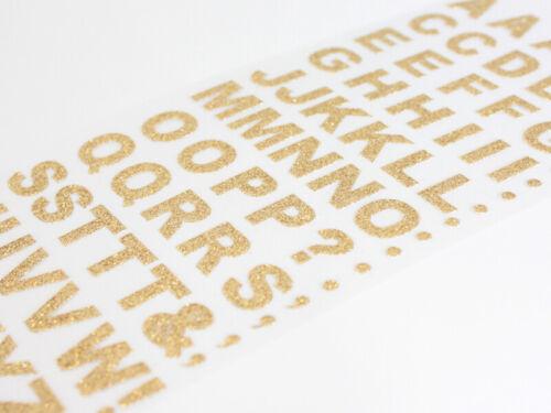 15mm Brillo Oro Negrita autoadhesivo letras del alfabeto Artesanía embellisment AC02