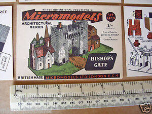 1950s-Vintage-Original-Micromodels-Cut-Out-Kit-ARC-IX-9-Bishop-039-s-Gate-3