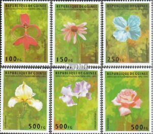 Never Hinged 1995 Flowers Buy Now Nature & Plants Conscientious Guinea 1548-1553 Unmounted Mint