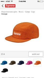 40f2fa3621c Image is loading Supreme-Wool-Camp-Cap-Orange-Confirmed