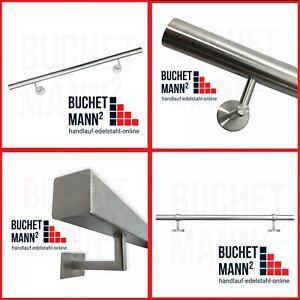 **Edelstahl Handlauf Geländer Treppe Wandhandlauf V2A 42,4 mm Montagefertig !!**