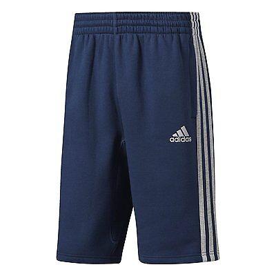 adidas 3 stripe fleece shorts