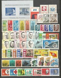 DDR-1963-Postfrisch-kompletter-Jahrgang-mit-allen-Einzelmarken