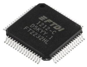 1 x FTDI Chip FT2232HL Dual UART Interface RS232 RS422 RS485 480Mbit/s 64-Pin LQ