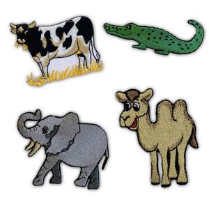 Mignon Animaux Collection Vache, Crocodile, Camel Fer Sur à Coudre Patch Brodé