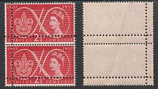Great Britain   2913 - 1957 Scout Jamboree DOUBLE PERFS pair unmounted mint