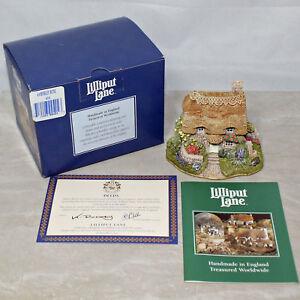 Lilliput-Lane-404-034-Amberley-Rose-034-Cottage-3-034-de-altura-con-caja-y-escritura