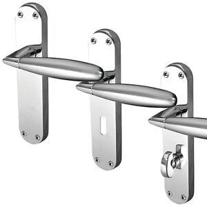 Door Knobs & Levers Stylo Door Handle On Backplate Door Accessories