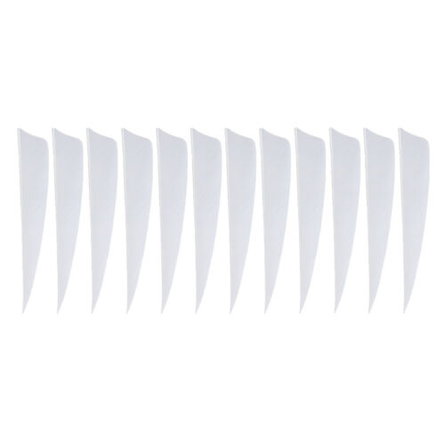 12pcs Archery Arrow Fletching Vanes Feathers Natural Feather Fletchings Tool
