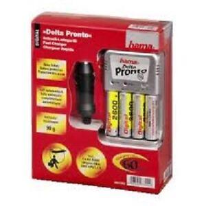Hama-Delta-Pronto-Cargador-4-baterias-AA-2600mAH-y-Incluye-Cargador-12V-coche