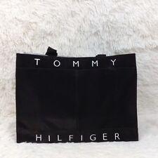 TOMMY HILFIGER black large vintage logo 90's tote bag NWOT