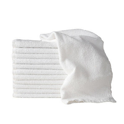 Sydney Salon Supplies 114g WHITE Towels 100% Cotton Hair/Barber/Beauty/Gym 40x67