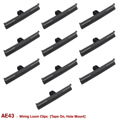 GM GMH HOLDEN 10 x NEW TAPE ON HOLE MOUNT WIRING LOOM CLIPS for VB VC VH VK VL