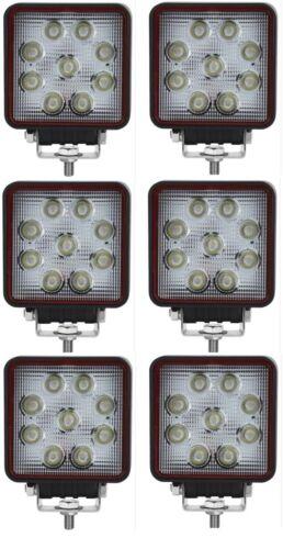 6x 12V Arbeitslampe 27W mit 9 LED Scheinwerfer Arbeitsscheinwerfer E-Prüfzeichen