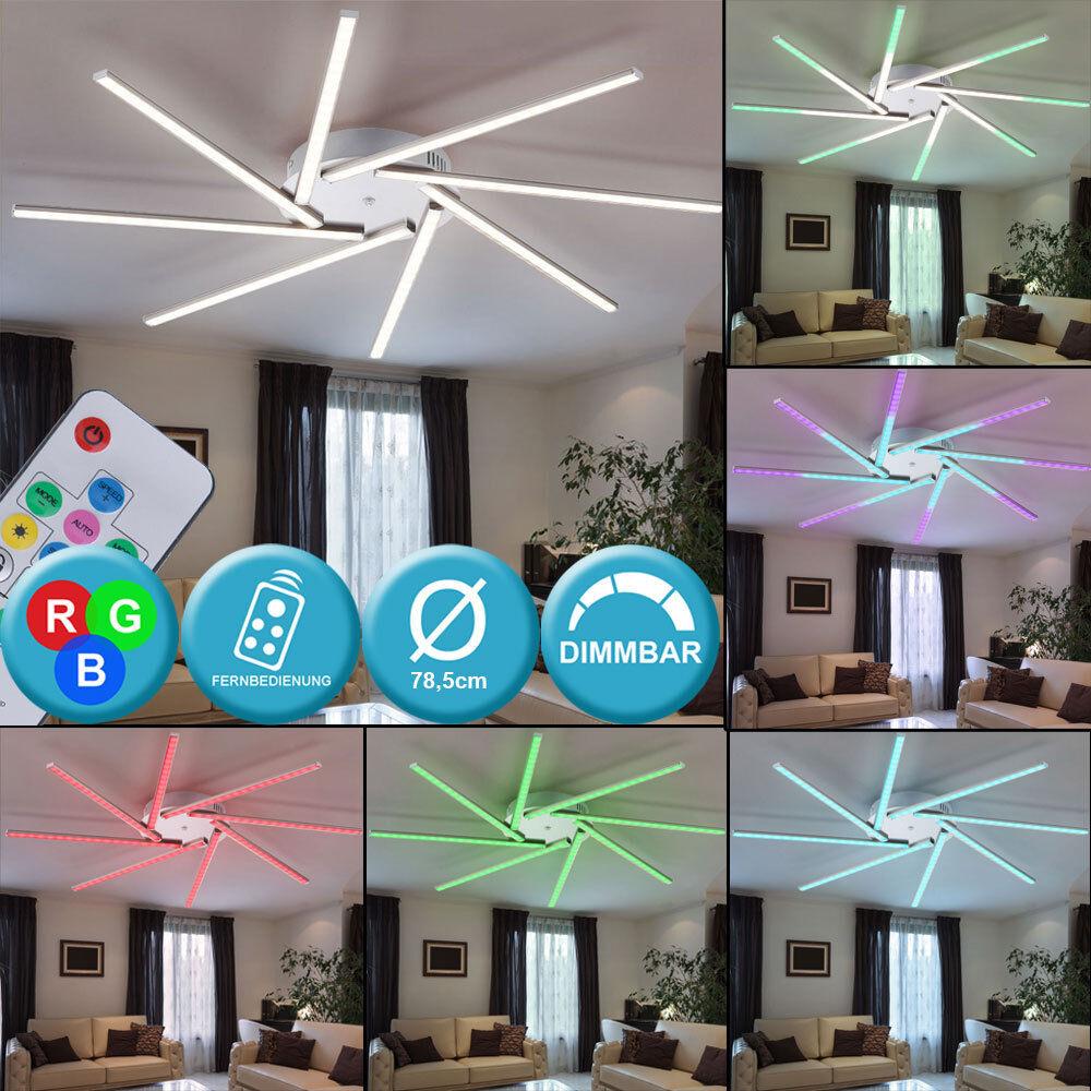 Rgb LED Lámpara De Techo Regulable Sala Dormitorio Sun Lámpara de Diseño Control Remoto