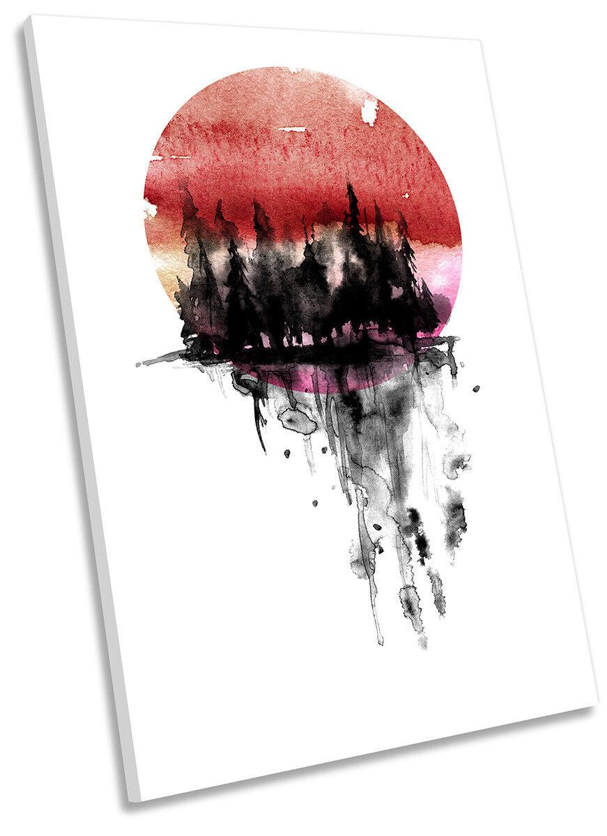 Shengshi star brille, a ez-vous au sentiHommes t de la Rouge clientèle Sunset Forest Rouge la Design Toile Wall Art Portrait print art 70d299
