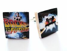 Back to the Future Cufflinks Delorean Movie Cufflinks handmade by DandanDesigns