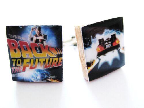 Back to the Future Cufflinks Delorean Movie Cufflinks handmade unique gift