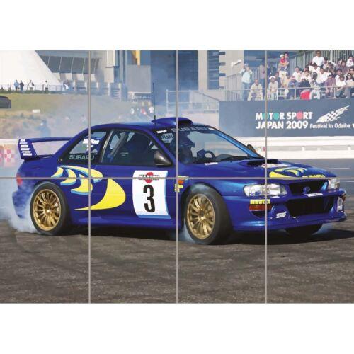 Subaru Impreza Wrc Colin Mcrae Rally Car Giant Art Print Picture Poster