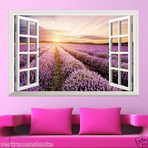 Das Bild Wird Geladen Wandtattoo Wandaufkleber Fenster Lavendel Wohnzimmer  Schlafzimmer Kueche Sticker