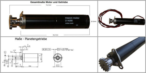 SwissMade Planetengetriebe Maxon Getriebemotor Minimotor Modellbau DC 3-24V